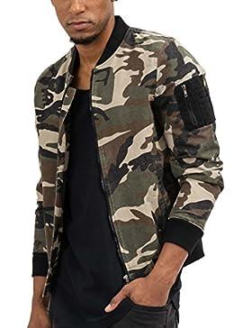 trueprodigy Casual Hombre marca Chaqueta Bombar camuflaje ropa retro vintage rock vestir moda Militar deportivo...