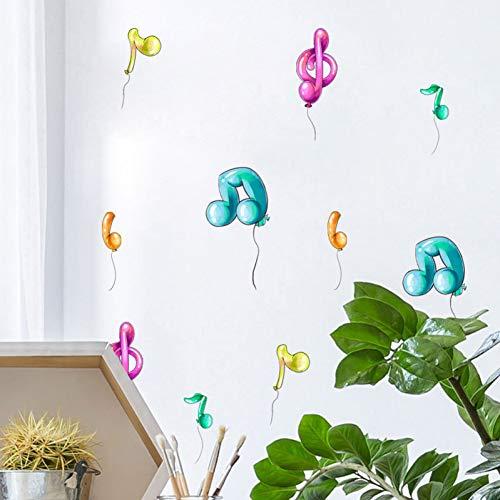 Teile/Satz Bunte Musik Note Ballon wandaufkleber DIY kinderzimmer wandbild kabinett kühlschrank Aufkleber Kindergarten dekor ()