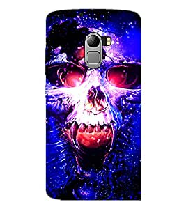 PrintDhaba Skull D-3902 Back Case Cover for LENOVO K4 NOTE A7010a48 (Multi-Coloured)