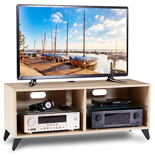 RFIVER Fernsehtisch Fernsehschrank TV Tisch Lowboard Board Couchtisch Möbel Holz 110x40x46 cm in Eiche TS4001