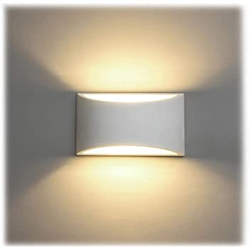 Led Wall Lights Indoor Modern White Plaster Wall Wash