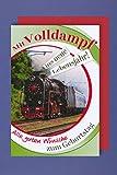 Eisenbahn Geburtstag Karte Grußkarte Humor Lokomotive 16x11cm