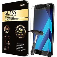 X2 Film Protecteur d'écran VITRE en VERRE TREMPE pour Samsung Galaxy A5 2017 Ultra Transparent Ultra Résistant INRAYABLE INVISIBLE (2 exemplaires) - A5 (2017) A520