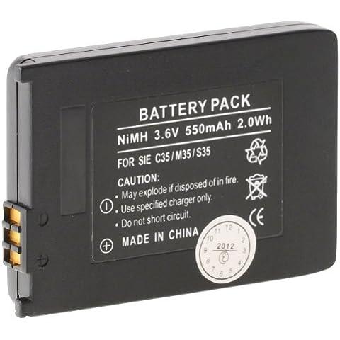 Helos - Batteria NiMH 550 mAh per Siemens C35, M35, S35, T-Sinus 710X/XA Micro, Gigaset Active M1, 4000 micro, 4010 Micro, 4015 Micro, 4110, 4115