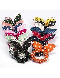 10pcs Rabbit Ears Hair Bands Rubber Band Hair Rope Headdress Hair Jewelry Hair Ring Headwear Hair Circle Hair...