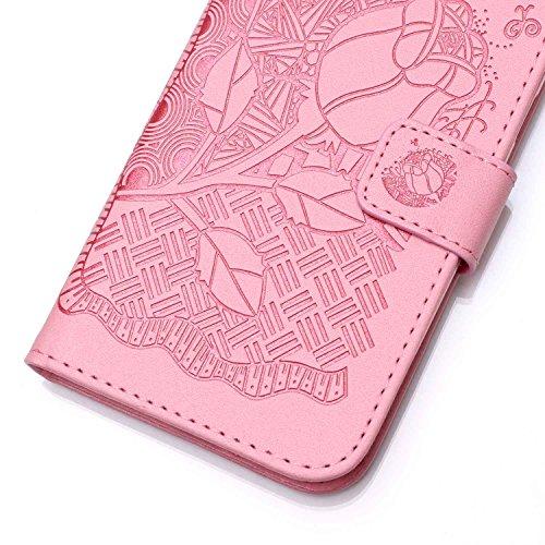 PU für Apple iPhone 5 5S SE Hülle,Geprägte Campanula Handyhülle / Tasche / Cover / Case für das Apple iPhone 5 5S SE PU Leder Flip Cover Leder Hülle Kunstleder Folio Schutzhülle Wallet Tasche Etui Sta 14