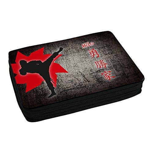 schulmappchen-mit-namen-milo-und-schonem-ninja-motiv-fur-jungs-inkl-stifte-lineal-radierer-spitzer