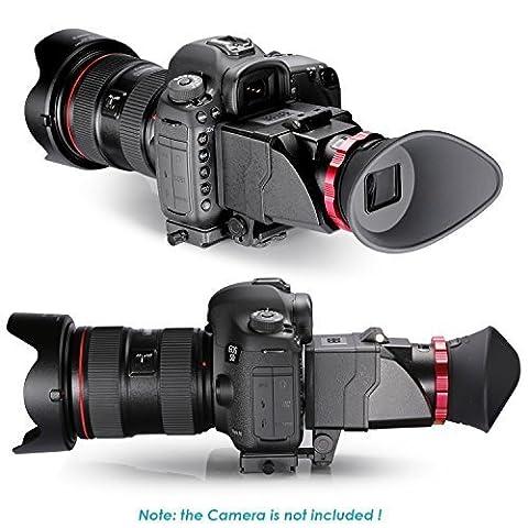 Neewer® S6 3X Optisch Vergrößerung Faltbarer Bildsucher für Canon 5DS,7D,7DII,5DII,5D3,D810,D800E,D750,D300S,D600,D610,Nikon