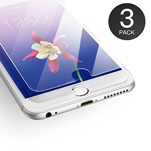AXHKIO Panzerglas Displayschutzfolie Kompatibel mit iPhone 6/ iPhone 6s Schutzfolie 3D-Ebene Ultra-klar 9H Härte Panzerglasfolie (4,7 Zoll)-0,25mm, Anti-Öl, Anti-Kratzen, Anti-Bläschen (MEHRWEG) -
