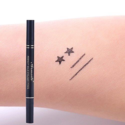Eyeliner,Cocohot Make-Up Trendy Schwarz Wasserdicht Liquid Eyeliner Bleistift maquillaje Stern Herzform Dot Tattoo Stempel -