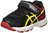 ASICS Unisex Baby Gt-1000 4 TS Gymnastikschuhe, Mehrfarbig (Black/Flash Yellow/Racing Red 9007), 21 EU
