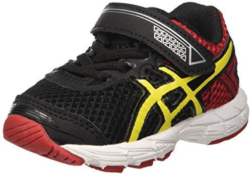 Asics Unisex-Baby 0-24 Gt-1000 4 TS Gymnastikschuhe, Multicolore (Black/Flash Yellow/Racing Red), 19.5 EU (Asics-racing-schuhe)