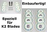8er HYPER Rollen SUPERLITE 80mm für K2 Skates Inliner fertig montiert - Einbauen losfahren Rollen + Kugellager+Spacer 6mm
