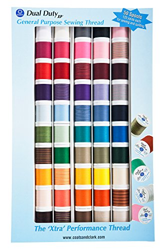 Coats: Thread & Zippers Manteaux Filetage et Fermetures à glissière Double Duty XP matériel de Filetage Assortiment, Lot de 50