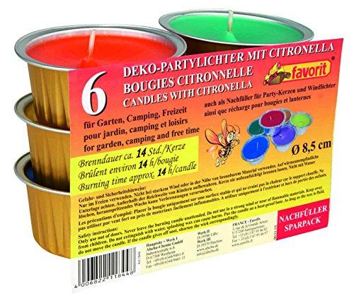 favorit 1844 Partylichter 6 Kerzen Partykerzen Windlichter