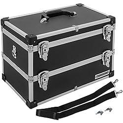 anndora Werkzeugkoffer Schwarz 22 Liter Angelkoffer Etagenkoffer 2 Etagen