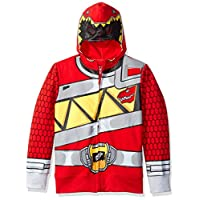 Power Rangers Little Boys' Character Hoodie, Red Dino, Large/7