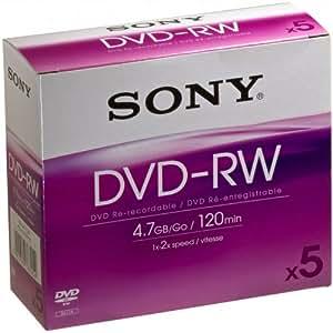 Sony DMW 47 - 5 x DVD-RW 4.7 GB - jewel Case - storage media
