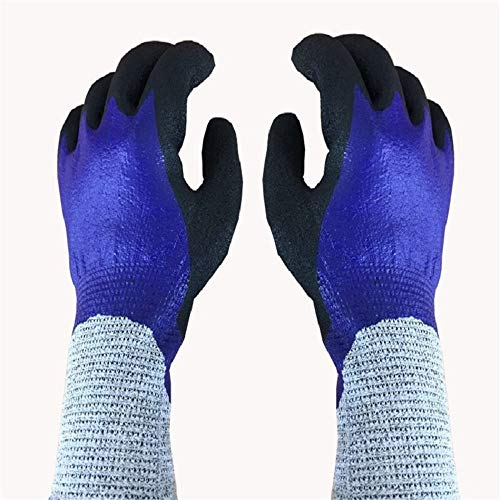 Fishing Rubber Cut -Proof Gloves Wear -Resistent Waterproof Non -Slip Puncture Outdoor Riding En388 Cut -Proof Test Level 5,L