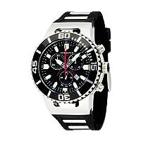 Torgoen T24301 - Reloj de caballero de cuarzo, correa de caucho color negro de Torgoen