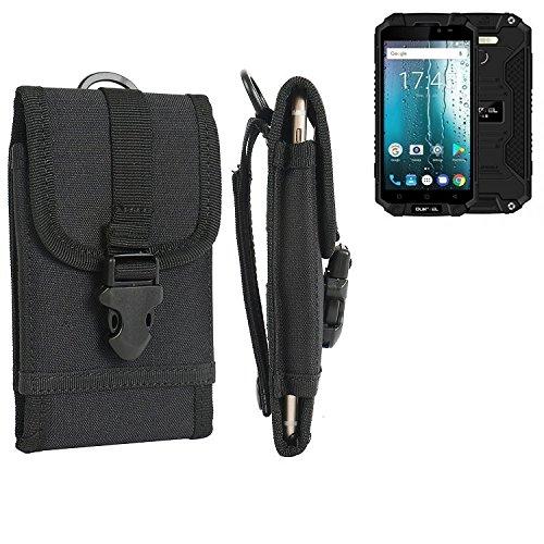 K-S-Trade Handyhülle für Oukitel K10000 MAX Gürteltasche Handytasche Gürtel Tasche Schutzhülle Robuste Handy Schutz Hülle Tasche Outdoor schwarz