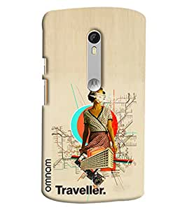 Omnam Traveller Lady With Destination Merge Effect Printed Designer Back Cover Case For Moto X Style
