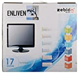 Zebion 15 inch Enliven Tetra WT-17 LED Monitor (Black) -Combo of 4