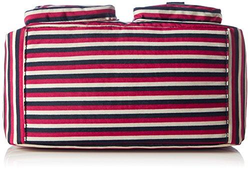 Kipling Defea, Borse a Tracolla Donna, 33 x 24.5 x 19 cm (W x H x L) Multicolore (Sugar Stripes)