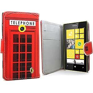 Accessory Master Rouge portefeuille Etui housse coque en PU cuir pour Nokia Lumia 635 / Microsoft lumia 635 London Telephone Booth
