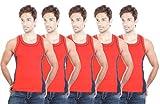 BODYSENSE RED Men Vest ( Pack of 5 )