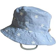 Leisial Sombrero Pescador para Bebé Niños Algodón de Protectora del Sol  Gorro de Alas Anchas Proteger 014db508336