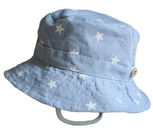 Leisial Sombrero Pescador para Bebé Niños Algodón de Protectora del Sol Gorro...