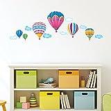 Decowall DW-1301AC 6 Heißluftballons im Himmel Wandtattoo Wandsticker Wandaufkleber Wanddeko für Wohnzimmer Schlafzimmer Kinderzimmer