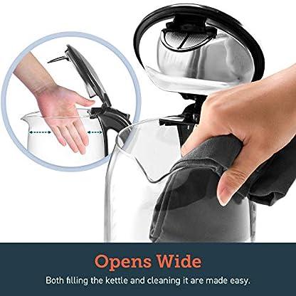 COSORI-Wasserkocher-Glas-Elektrisch-Glaswasserkocher-2200W15L-mit-Edelstahl-Innendeckel-Wasserkoch-mit-LED-Beleuchtung-Auto-off-Trockenlaufschutz-breite-ffnung-fr-einfache-ReinigungBPA-frei