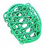 Tragbare Kleidung Pin 12 Metallklammern Faltbare Stretchable Wäscheleine-Grün