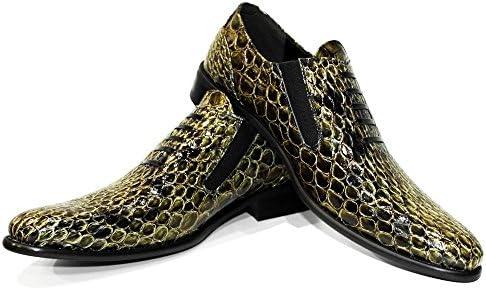 PeppeShoes Modello Oromono - Cuero Italiano Hecho A Mano Hombre Piel Oro Mocasines y Slip-Ons Loafers - Cuero...