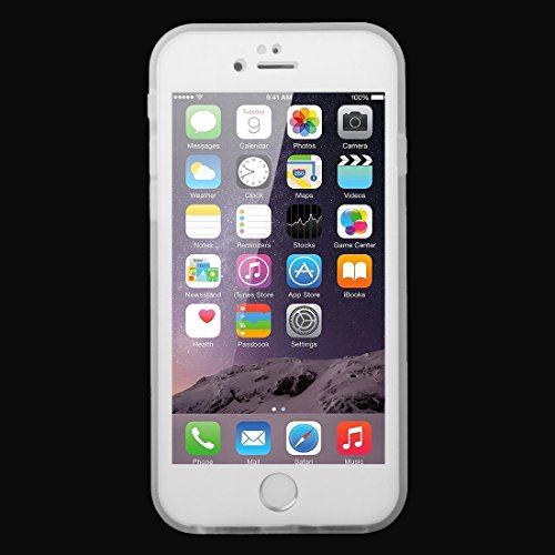 Phone case & Hülle Für iPhone 6 / 6s, Tridimensionales Diamant-Muster 3ATM Leben-wasserdichter schützender Fall ( Color : White ) White