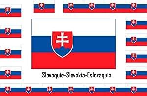 Assortiment 15 autocollants Vinyle stickers flag drapeau Slovaquie-Slovakia-Eslovaquia