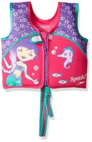 Speedo Kids 'UPF 50+ beginnen zu schwimmen Bedruckte Neopren Schwimmen Weste, unisex, Printed Neoprene Swim Vest, Berry/Grape