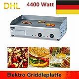 YIYIBY Gastronomie Elektro Grillplatte Griddleplatte Grill Tischgerät Gastrobräter Bratfläche 73cm( Easy Clean Fettschale)