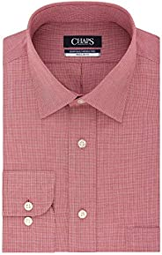 Chaps Men's Dress Shirts Regular Fit Check Spread Co