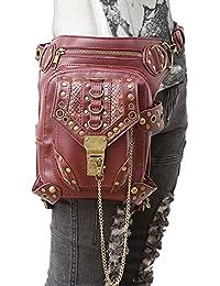 Crossbody Tasche , steampunk retro - rock - gothic - punk mit dampf schulter taille taschen packungen im viktorianischen stil für frauen männer + bein am oberschenkel halfter tasche