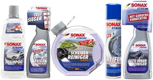 Preisvergleich Produktbild SONAX Xtreme Innen und Außen Pflege Set - Shampoo FelgenReiniger Scheibe Reifen