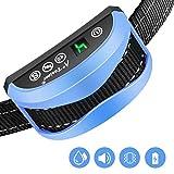 A+ Trainer Collar Antiladridos para Perros, Collar Adiestramiento 7 Niveles Sonido y Vibración Sensibilidad, Impermeable IP65, Correa Ajustable Nylon para Perro 7-54kg