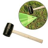 Goma resistente/martillo mazo de madera para Camping, actividades al aire libre, tienda de campaña pegs, DIY, edificio, alambres