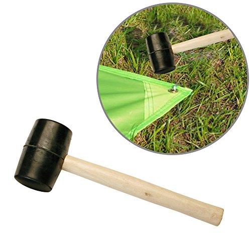 en caoutchouc durable/Marteau en bois Maillet pour le camping, les activités en extérieur, piquets de tente, DIY, construire, Racking