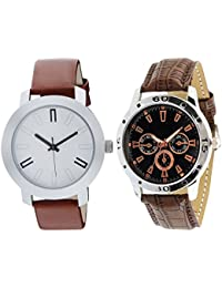 Scarter Combo Of 2 Analog Watch For Boys And Mens- S-204-212