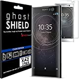 [Pack de 3] TECHGEAR® Sony Xperia XA2 [ghostSHIELD] Film Protecteur d'Écran en TPU avec Protection Totale de l'Écran, y Compris les Bords Incurvés [Protection 3D Bords Incurvés]