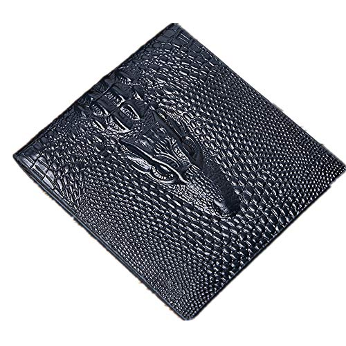 Men ' S Crocodile Embossed Luxury Leather Wallet Black Dark Brown Light Brown Light Blue Sleep Minimalist Elegant Atmosphere High-End Life Identity Symbol,Bronze -