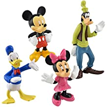 Disney Classic Plastic Figurines, 3, Mickey Mouse, Minnie, Donald Duck and Goofy